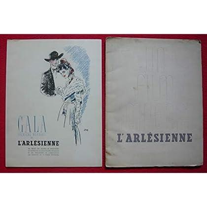 Dossier de presse de L'Arlésienne (1942) - 25x32 cm, 24 p – Film de Marc Allégret avec Raimu, L Jourdan, Delmont, Charpin – Photos N&B - résumé du scénario - Couv. fatiguée