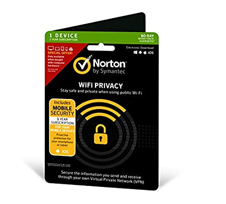 Norton Privacy and Mobile Security|Wi-Fi|1 Device|1 Year|PC/Andriod/Mac/iPhones/iPads|Download