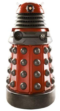 Lebensgroßer Aufsteller aus Pappe (Stand-up, Pappaufsteller, Life-Size) Dalek Drone (Rot), 182 cm (Aufsteller Standup Cardboard Cutout)