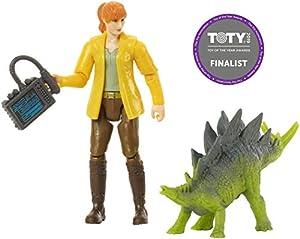 Jurassic World Figura básica Claire con dinosaurio de juguete Stegosaurus (Mattel FMM06)