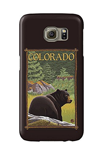 Colorado- Black Bear in Forest (Galaxy S6 Cell Phone Case, Slim Barely There) -