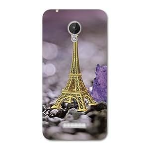 Kaira Brand Designer Back Case Cover For Micromax Canvas Spark Q380 (Eiffel Tower)