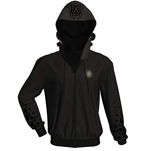 Xcoser Toothless Kapuzen pullover Hoodie Schwarz Jacke Zip Sweatshirt Film Cosplay Kostüm Herren Mantel für Erwachsene Kleidung (Ost Kostüm Für Erwachsene)