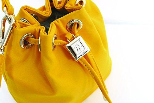 RIVIERA, Rivierina, borse a secchiello, borse a mano, borse a tracolla, bucket bag in 3 colori: bianco, giallo, azzurro Giallo