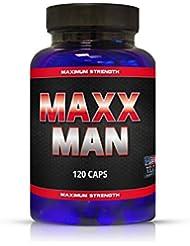 MAXX MAN - 120 Kapseln - Grössere Muskeln Schnell und Effizient