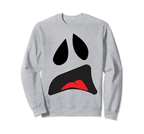 Kostüm Für Paare Einfache - Big Ghost Face - Einfache Paare Halloween-Kostüm Idee Sweatshirt