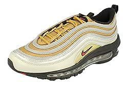 Nike Air Max 97 SSL Herren Running Trainers BV0306 Sneakers Schuhe (UK 9 US 10 EU 44, metallic Silver University red 001)