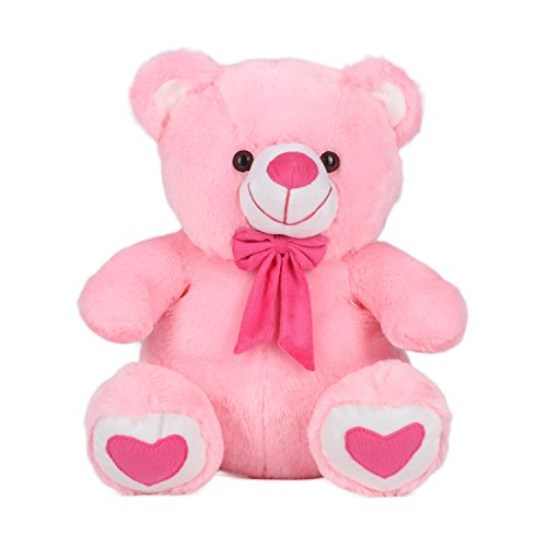 Ultra Spongy Teddy Bear Soft Toy Gifts, Pink (15-inch)