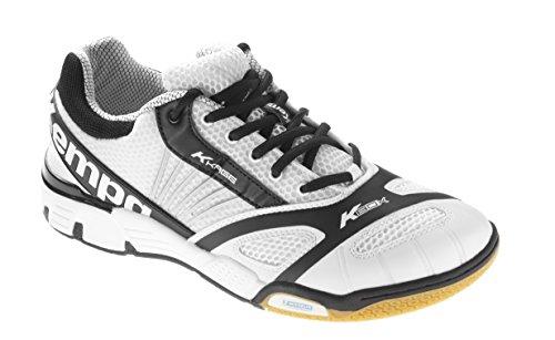 Kempa Hurricane, Chaussures de Handball Mixte Adulte Multicolore (Blanc/Noir)
