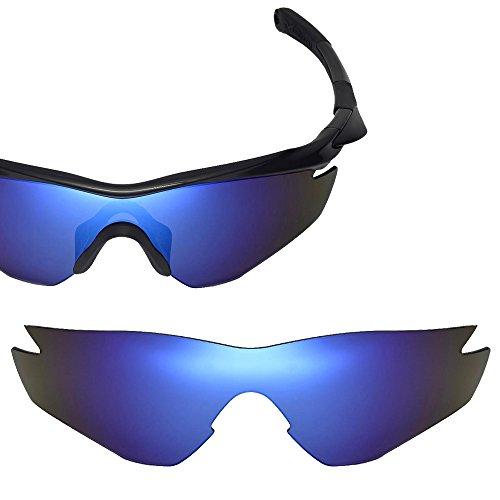 Cofery Ersatzgläser für Oakley M2 Sonnenbrille - Verschiedene Optionen erhältlich, Unisex, Ice Blue - Polarized, Einheitsgröße
