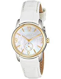 Cross CR9007-02 - Reloj analógico para mujer, correa de cuero color blanco