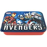 Marvel Avengers Plastic Lunch Box Set, 3-Pieces, Multicolour (HMLILB 73273-AV)