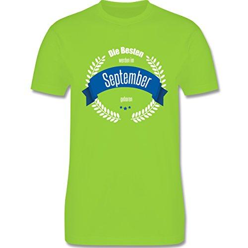 Geburtstag - Die Besten werden im September geboren - Herren Premium T-Shirt Hellgrün