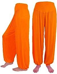 431e417ee820 MCYs Frauen Breite Beine Elastische Lose Hohe Taille beiläufige Modale  Baumwolle Weiche Yoga Sport Tanz Pluderhosen Größe Größe…