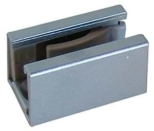 Hawa - Guide de sol auto-serrant pour porte coulissante en verrre complet -