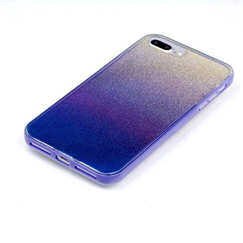 """MOONCASE iPhone 7 Plus Coque, Gradient Glitter Sparkle Bling Étui Coque pour iPhone 7 Plus 5.5"""" Soft TPU Gel Souple Case Housse de Protection Gradient Rose Violet"""