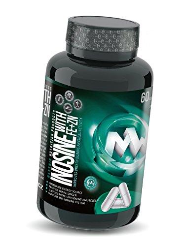 Eisen-unterstützung Mit 60 Tabletten (INOSINE | 60 Kapseln = 30 Tage / 30 Portionen | Hochdosiert mit Zink, Vitamin C und Eisen | Muskelaufbau | Innovative und potente Alternative zu Kreatin |)