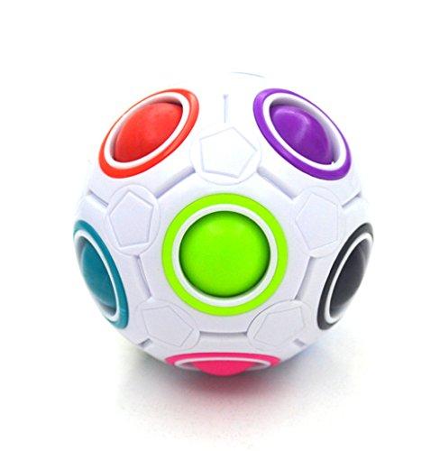 Preisvergleich Produktbild Puzzle kreative Regenbogen magische Kugel, Morbuy magische Kugel Regenbogen Kunststoff-Würfel verdreht Kinder Bildungs-Spielzeug für Erwachsene Jugendliche Druckentlastung .
