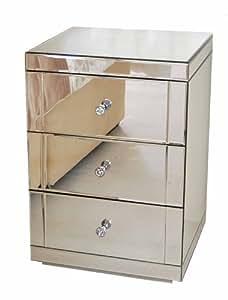 my furniture table de chevet en miroir lucia 3 tiroirs. Black Bedroom Furniture Sets. Home Design Ideas