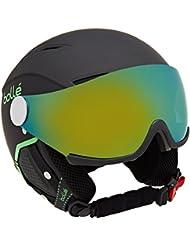 Bollé Backline Visor Premium Casco, Unisex, Soft Black/Green, Medium