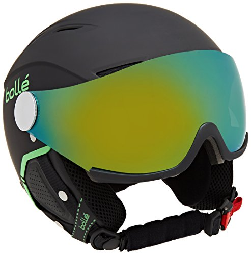 Bollé Backline Visor Premium Helm, Soft Black/Green, L