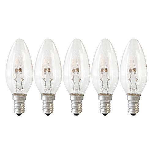 5er-Pack GE Lighting Halogen Kerze E14 Glühlampe Glühbirne 20W dimmbar 235lm 2800K warmweiß -