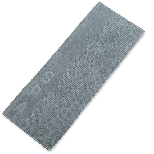 aqua-textil Bahamas Saunatuch, Frottee Baumwolle, Sauna Handtuch in grau, 80 x 200 cm, 0010974