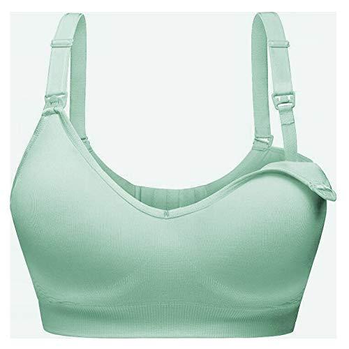ll-BH mit Stahlring für Unterwäsche für Schwangere Frauen in Blau L ()