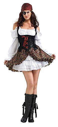 Rubies - Disfraz oficial de Buccaneer Babe Secret Wishes para adultos,  talla XS f90b0508acb7