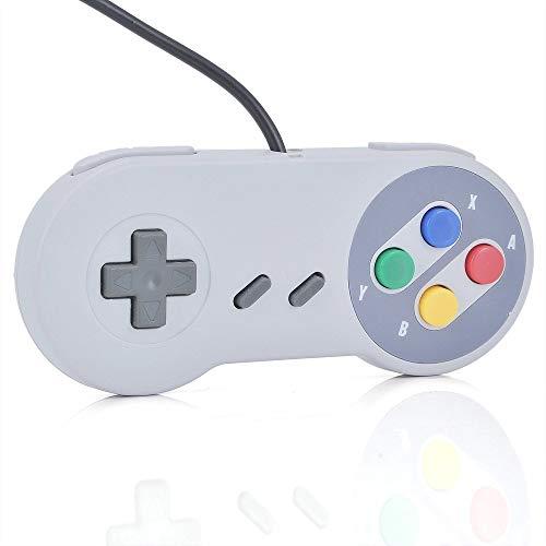 vshop® Ersatz Gamepad Joypad Controller-Spiel Super Nintendo SNES Spielekonsole Konzeption [Notebook USB Gamepad Joypad Gaming Controller Super Nintendo SNES Game