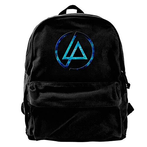 LP Logo Unisex School Backpack Canvas Rucksack Laptop Book Bag Satchel Hiking Bag -
