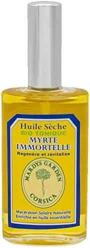 Huile Sèche Immortelle BIO TONIQUE 50ml Riche en Huile Essentielle Immortelle et Myrte CORSE