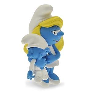 Plastoy 00- Figura de Pitufina con su bebé - Pitufos - Figura - Pitufina con Bebe Limitada Resina, Figura Cine y TV 2