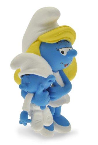 Plastoy 00- Figura de Pitufina con su bebé - Pitufos - Figura - Pitufina con Bebe Limitada Resina, Figura Cine y TV 1