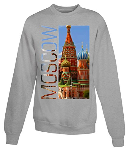 Billion Group | Colourful Moscow | City Collection | Women's Unisex Sweatshirt Gris