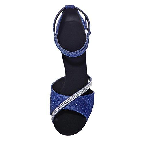 Custom Multicolor Il Scarpe Scarpe YC Blue Spesso Di L Con Ballo Delle Calzano Donne Di Cuoio Le Cuoio Da TaHx5ZqwB