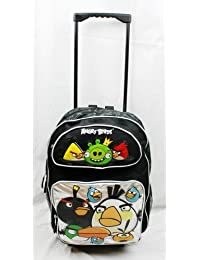 16 Angry Birds 10 Character Black Rolling Backpack-Tote-Bag-School By Angry Birds By Accessory Innovation