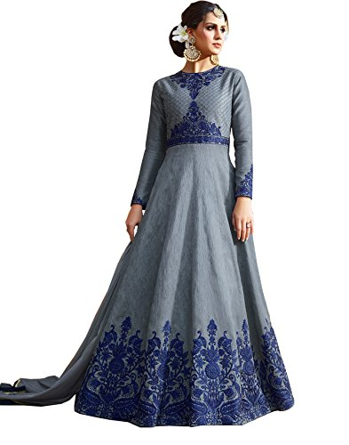 Ethnic Yard Bollywood Designer Silk Gown
