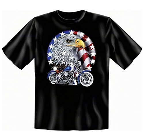 Biker & Motorrad T-Shirt: Bike with Eagle (Größe: L) -