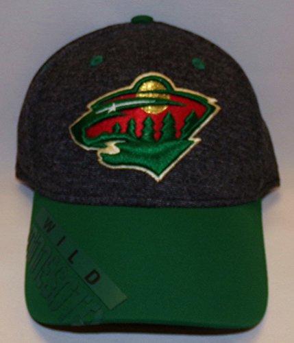 Reebok 2016 NHL Playoff Structured Flex Fit Cap (L/XL, Minnesota Wild) -