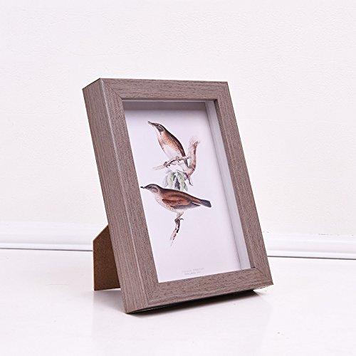MiniWall Kreative Bilderrahmen Tisch box Frame Wand Exemplare 6781012 Zoll Bilderrahmen Bilderrahmen Square 6 Zoll hängen können und können ausschwenken Grau Dicke 3 cm hohlen 1.8cm