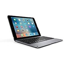 Incipio ClamCase+ - Teclado bluetooth de aluminio con LED retroiluminado para Apple iPad Air 2, Space Gris
