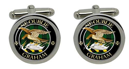 Family Crests Graham Scottish Clan Crest Mens Cufflinks with Chrome Gift Box