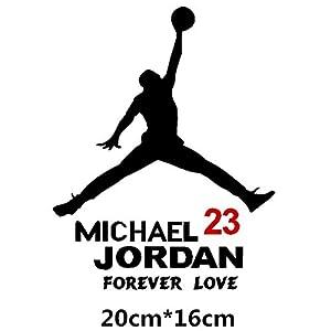 HANO Carmicheal Jordan Air 23 Kreative Abziehbilder für Auto Tankdeckel Wasserdicht Auto Tuning Styling 14 * 11cm & amp; 20 * 16cm D11: 20x16 Schwarz R