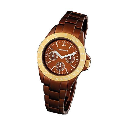 Time Force Reloj Analógico para Mujer de Cuarzo con Correa en Acero Inoxidable TF4189L14M