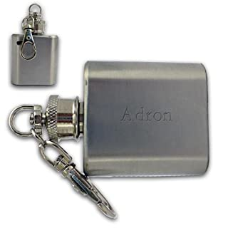 Shopzeus Custom engraved flask keychain with text: Adron (first name/surname/nickname)