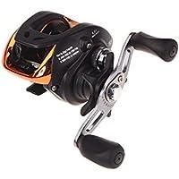 Anself AF103 6.3: 1 10 +1 BB rodamientos de bolas Carrete de pesca Bastidor de cebo de alta velocidad (negro y mano izquierda)