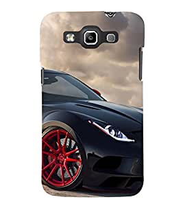 Black Sport Car 3D Hard Polycarbonate Designer Back Case Cover for Samsung Galaxy Quattro Duos :: Samsung Galaxy Grand Quattro :: Samsung Galaxy Win Duos I8552