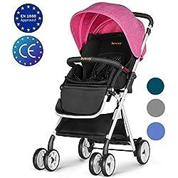 Besrey Silla de paseo ligera para bebes Cochecito plegable bebe Carrito Bebe Compacta y Manejable, ECE