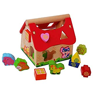 AK Sport Wooden Farm Shape Sorting Cube